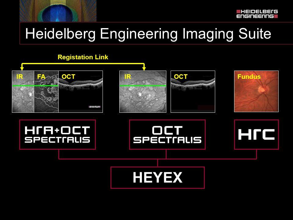 Heidelberg Engineering Imaging Suite IR OCT HEYEX FAFundus Registation Link OCT