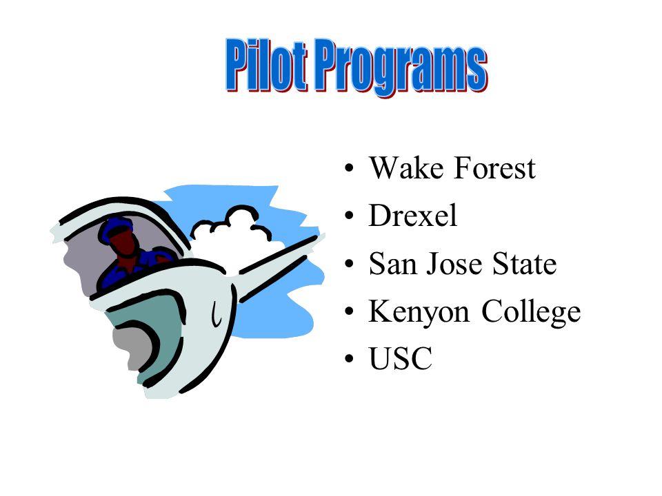 Wake Forest Drexel San Jose State Kenyon College USC