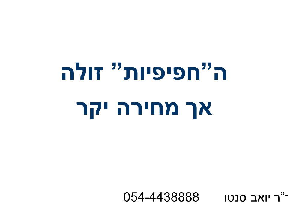 ה חפיפיות זולה אך מחירה יקר ד ר יואב סנטו 054-4438888
