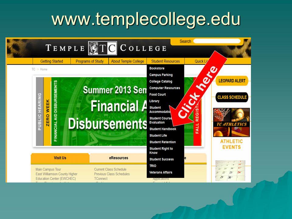 www.templecollege.edu Click here