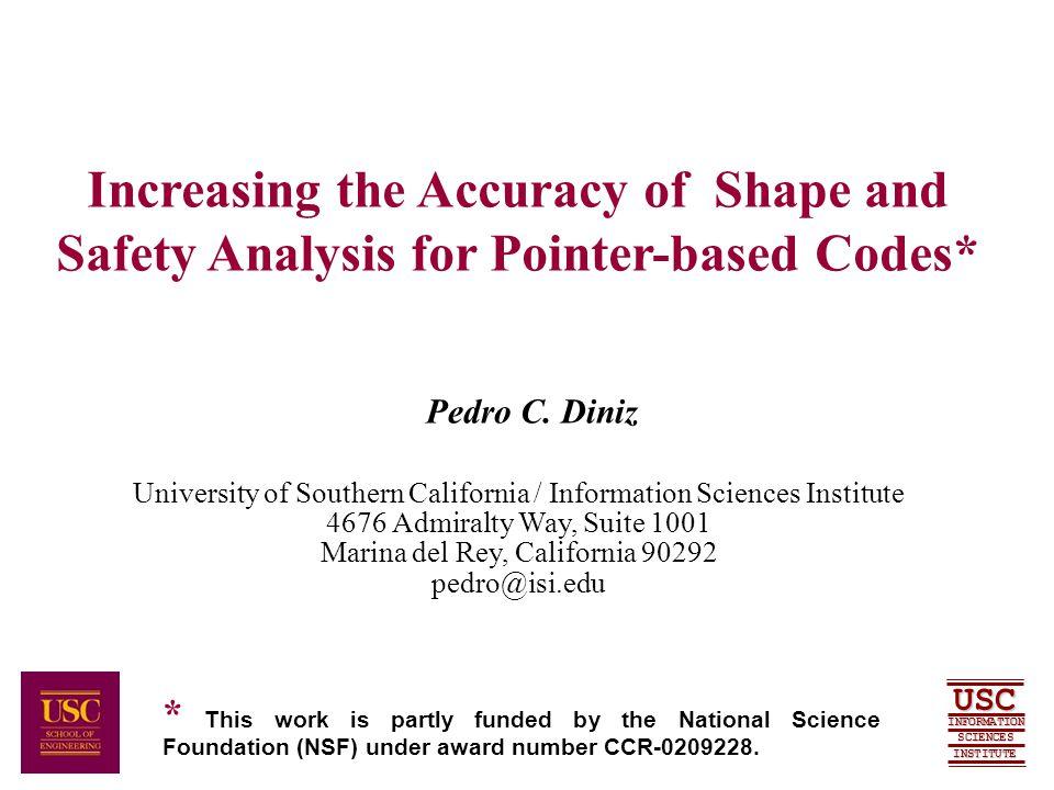 SCIENCES USC INFORMATION INSTITUTE Pedro C.