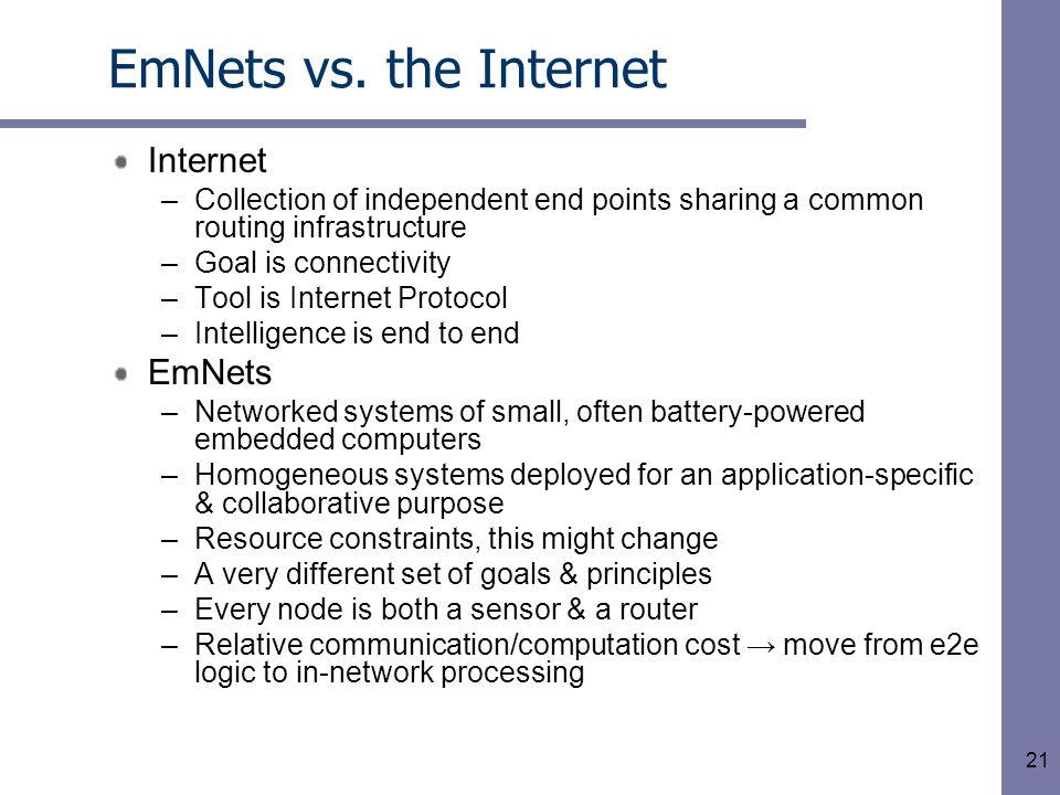 21 EmNets vs.