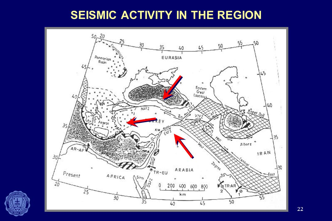22 SEISMIC ACTIVITY IN THE REGION
