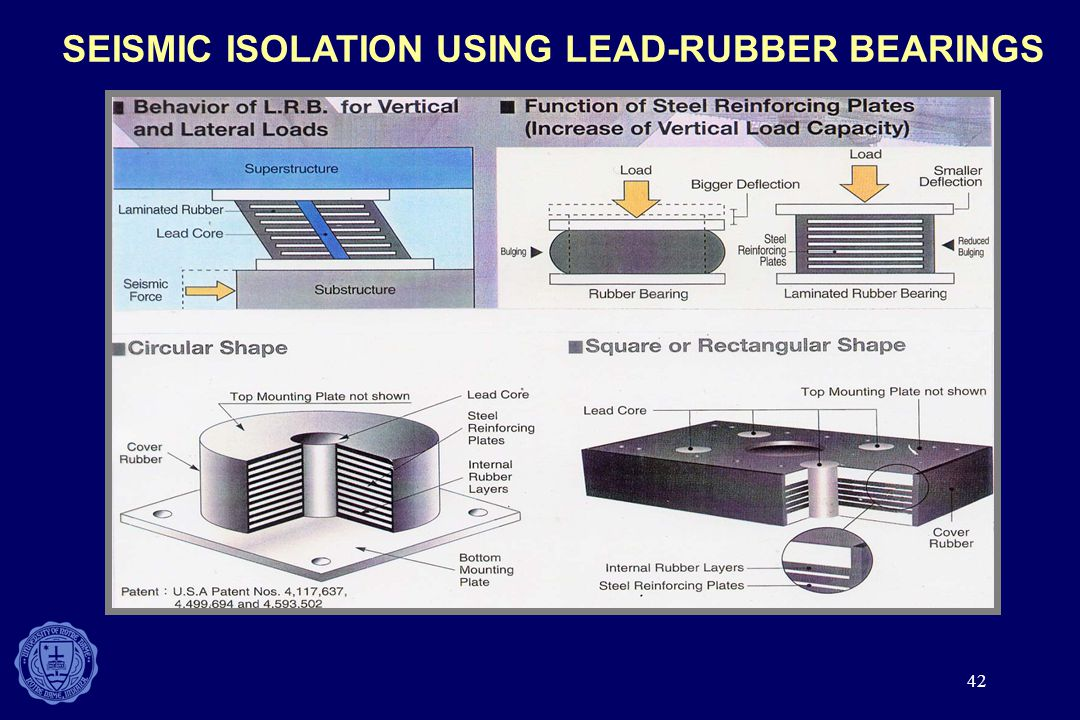 42 SEISMIC ISOLATION USING LEAD-RUBBER BEARINGS