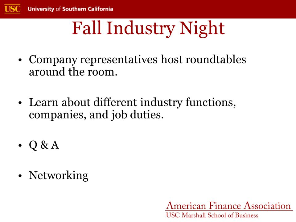 The AFA Dinner Company executives host faculty moderated question and answer sessions in breakout rooms.
