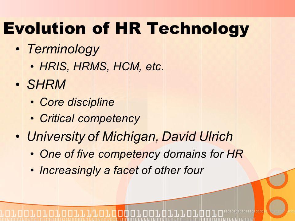Evolution of HR Technology Terminology HRIS, HRMS, HCM, etc.