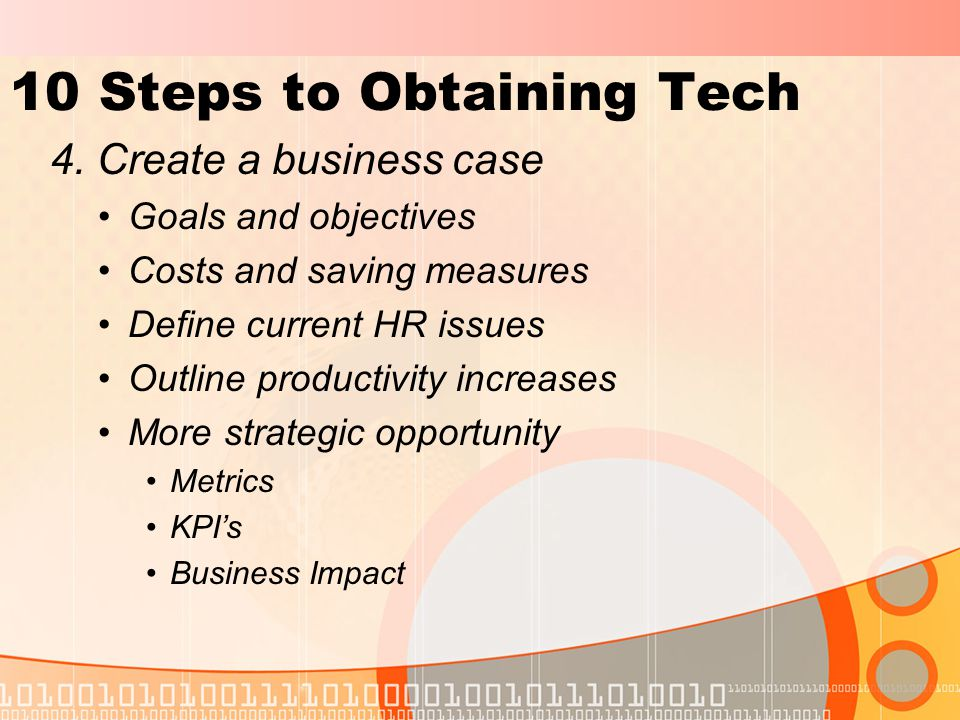 10 Steps to Obtaining Tech 4.