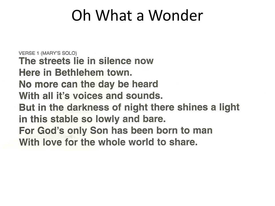 Oh What a Wonder