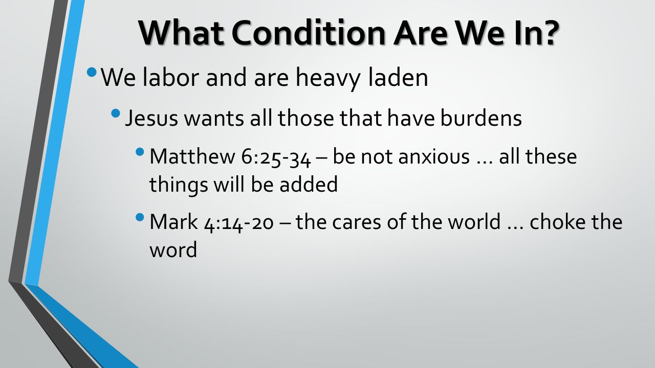 What Condition Are We In.