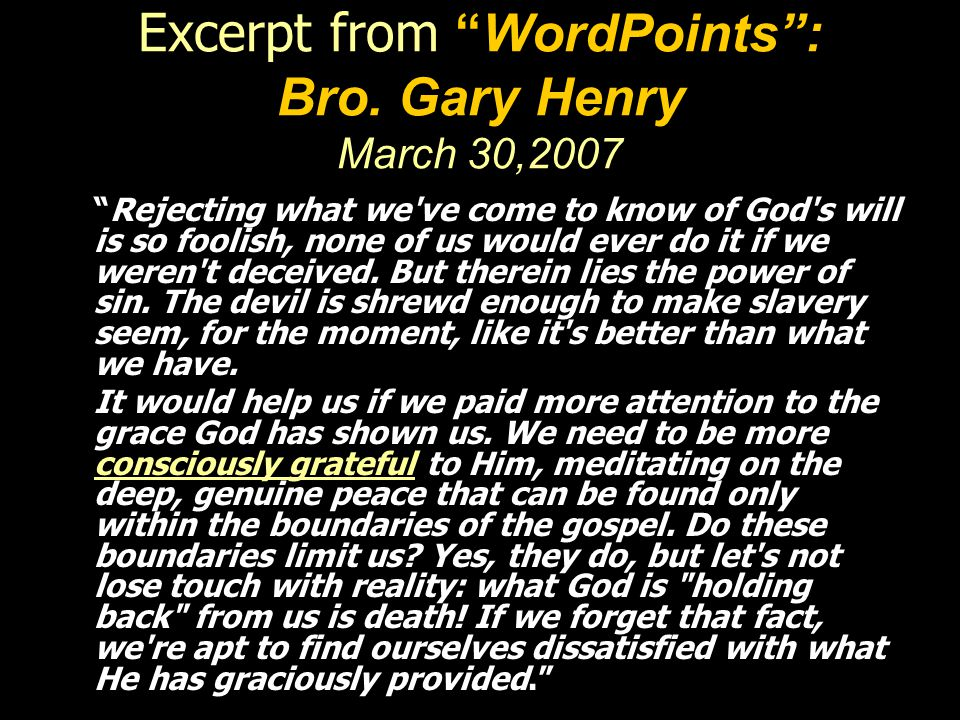 Excerpt from WordPoints : Bro.