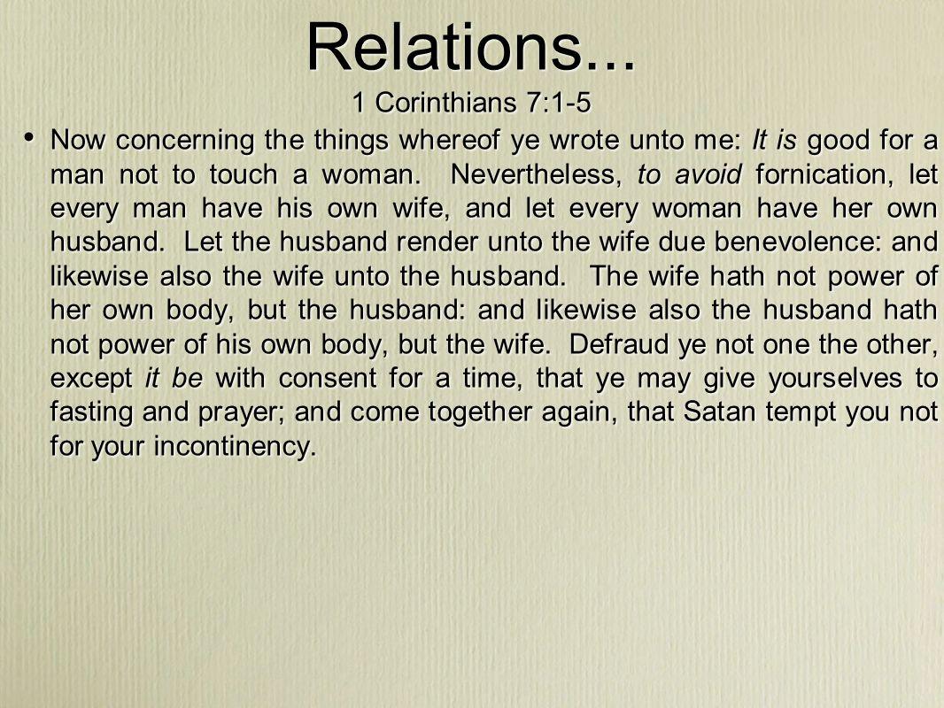Relations...