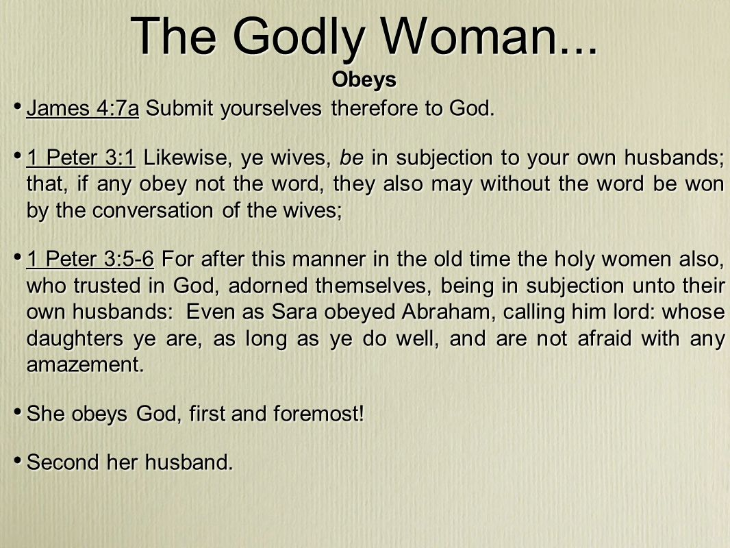 The Godly Woman...Manages Her Home (v.