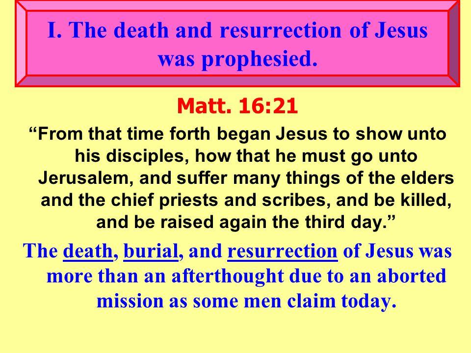 II.Several Proofs of Jesus' Resurrection.