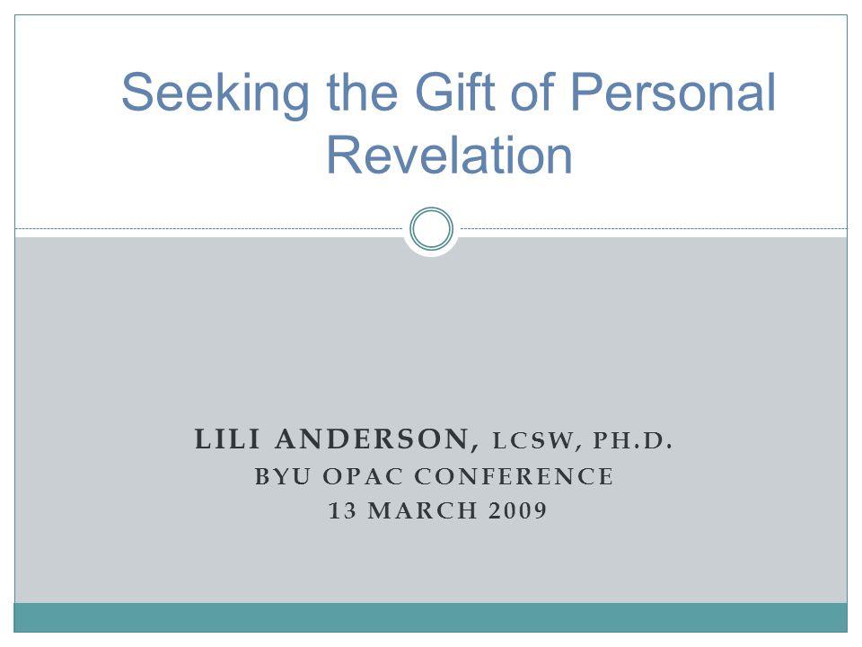 LILI ANDERSON, LCSW, PH.D.