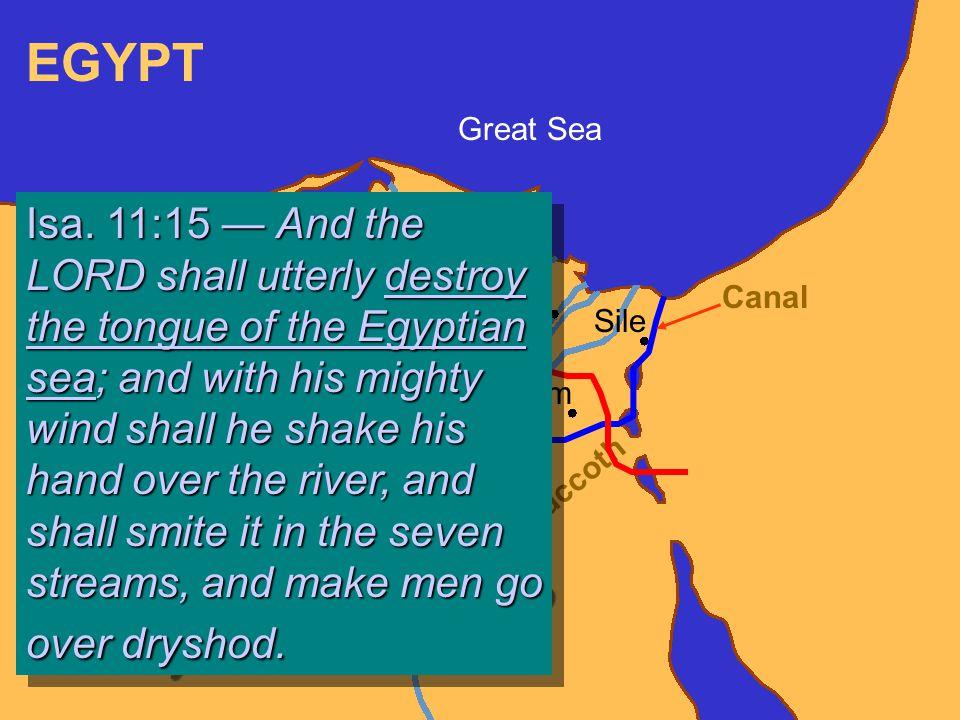 Giza Memphis On Sais Tanis Avaris Pithom Sile G o s h e n Succoth Great Sea Canal Isa.