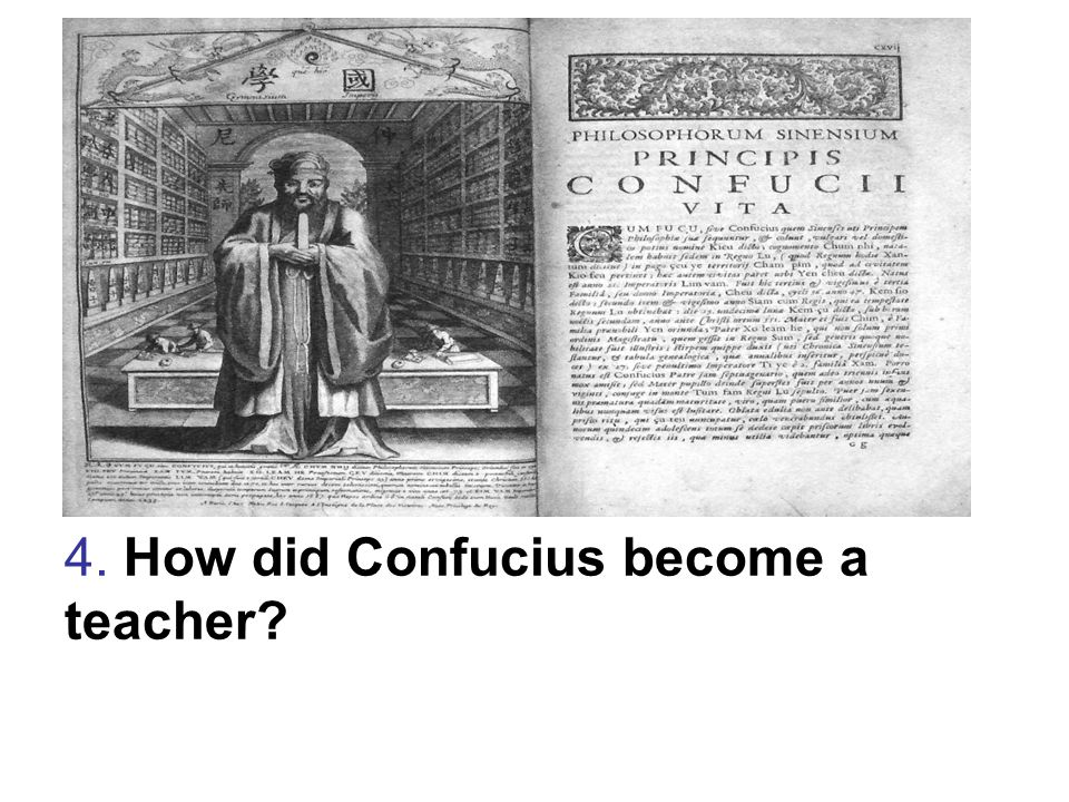 4. How did Confucius become a teacher