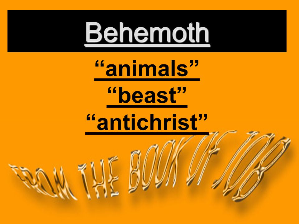 animals beast antichrist Behemoth