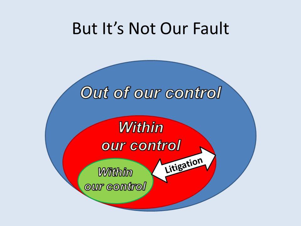 But It's Not Our Fault Litigation