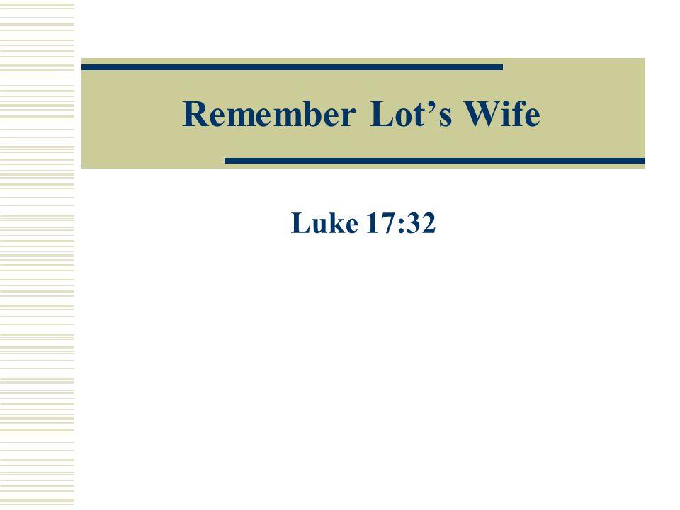 Account of Lot's Wife (Gen.