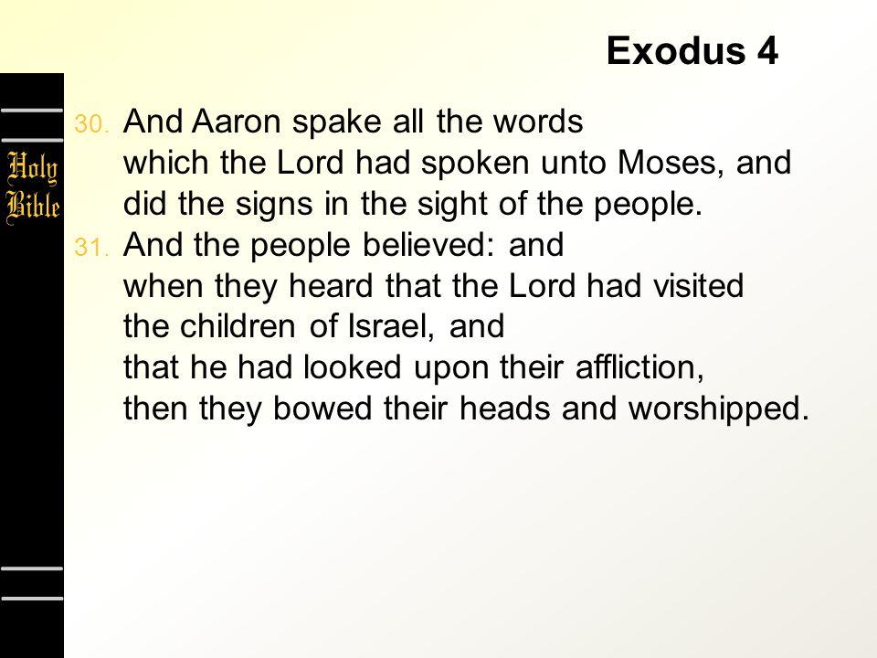Exodus 4 30.