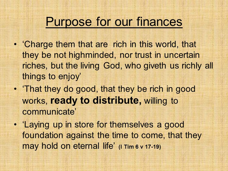 Obedience and our finances Romans 6 :16 (paraphrased) Who you chose to obey, you become servants to.