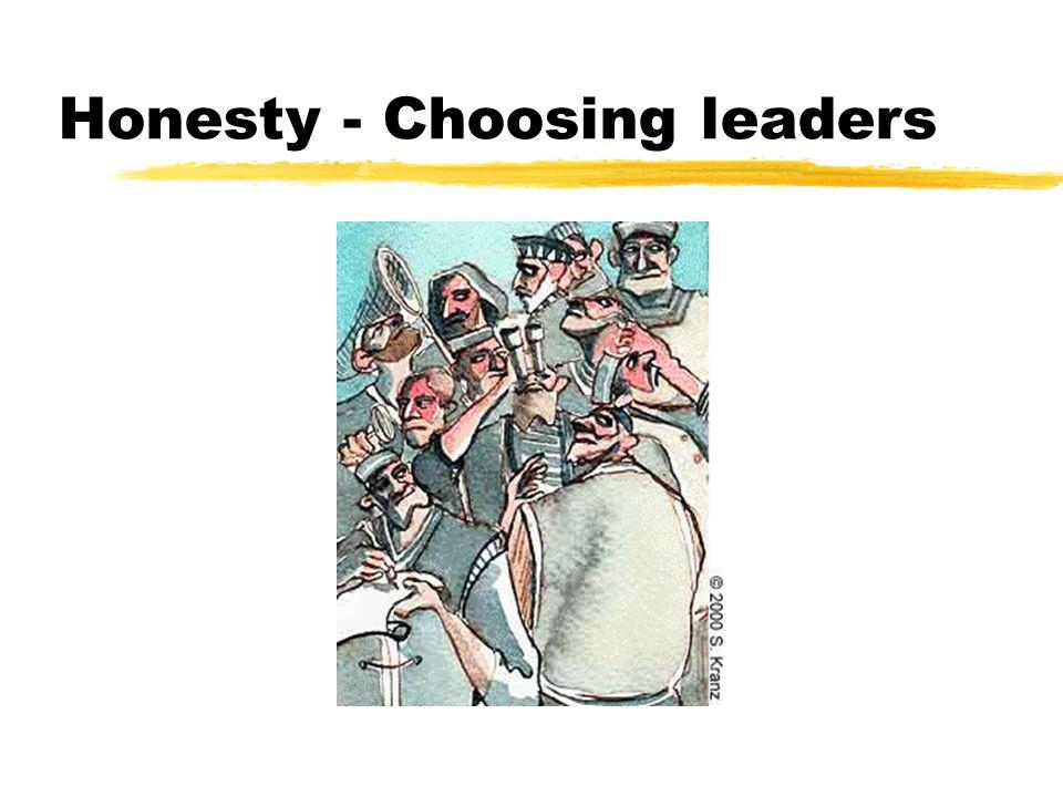 Honesty - Choosing leaders