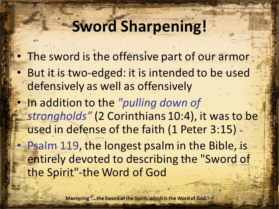 Sword Sharpening.
