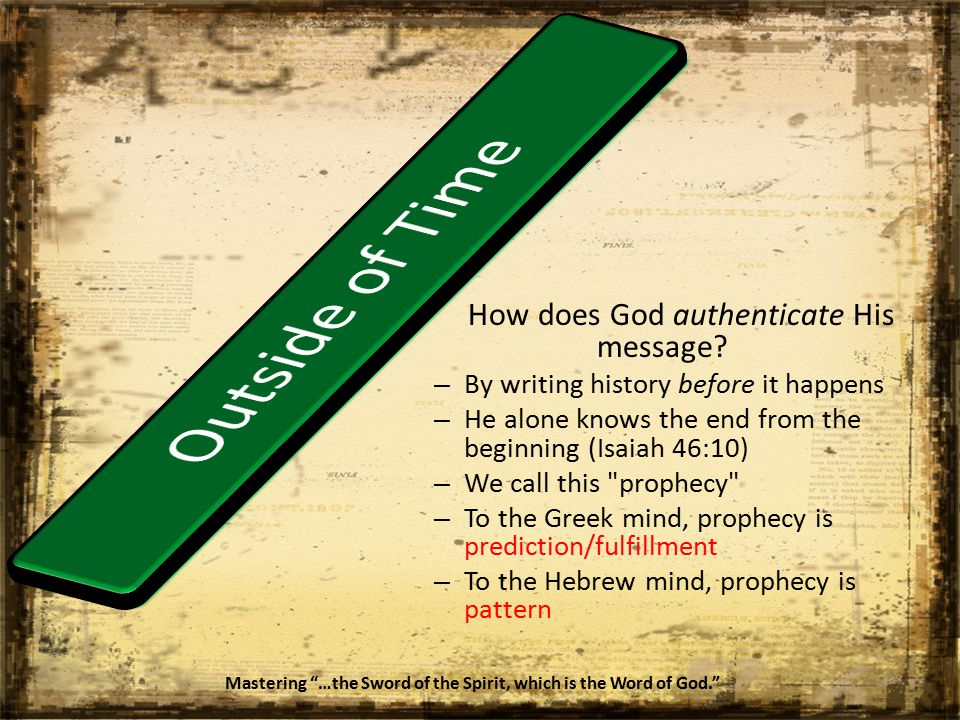 How does God authenticate His message.