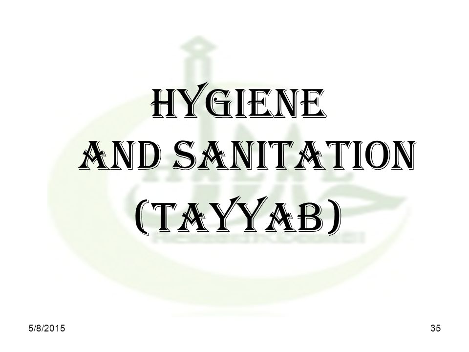 HYGIENE AND SANITATION (TAYYAB) 5/8/201535