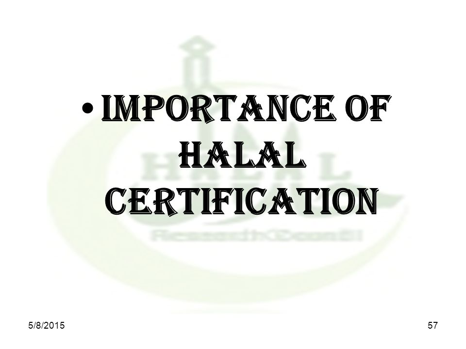 Importance of Halal Certification 5/8/201557