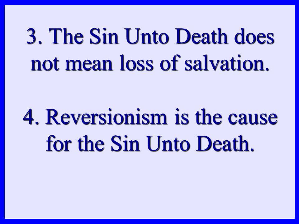 5. Case histories of the Sin Unto Death.