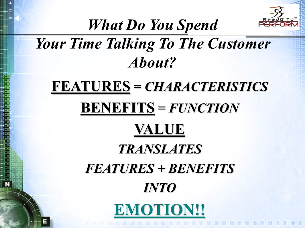 What Do You Spend Your Time Talking To The Customer About.