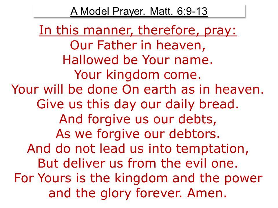 On Forgiveness.Matt. 6:14, 15 On Forgiveness. Matt.