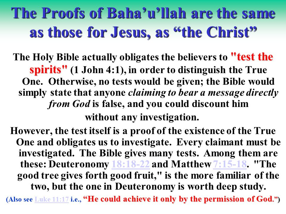 Baha'u'llah's prophesies include: lettersletters Downfall of certain kings in letters addressed specifically to them.letters His own release from prison and pitching His tent on Mt.