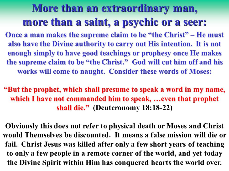 Ultimate Proof Ultimate Proof By sacrificing Himself...