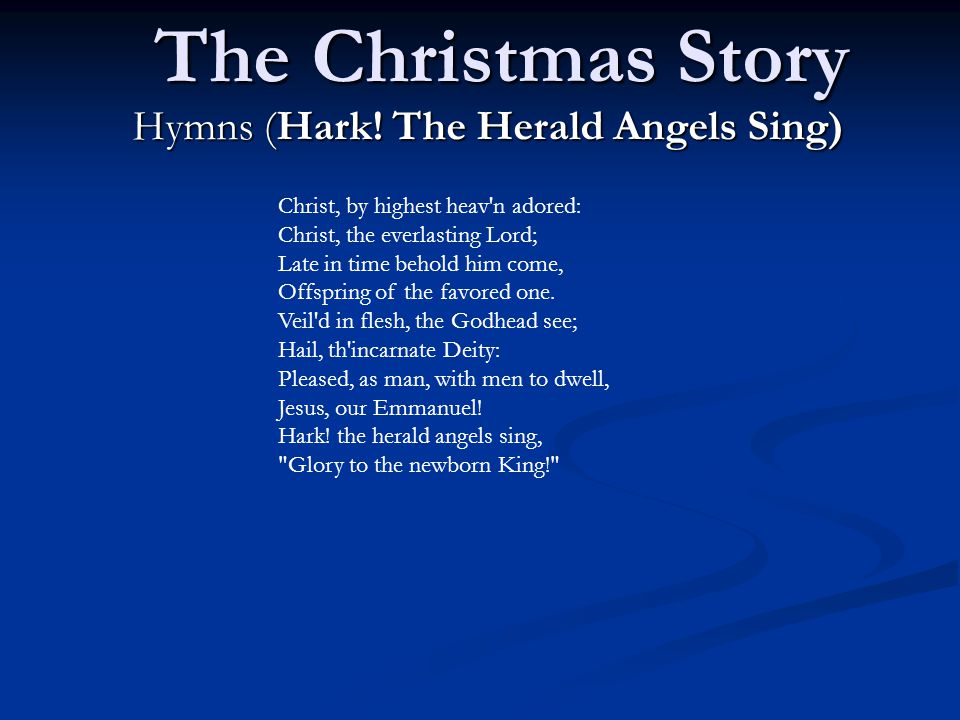 The Christmas Story Hymns (Hark.