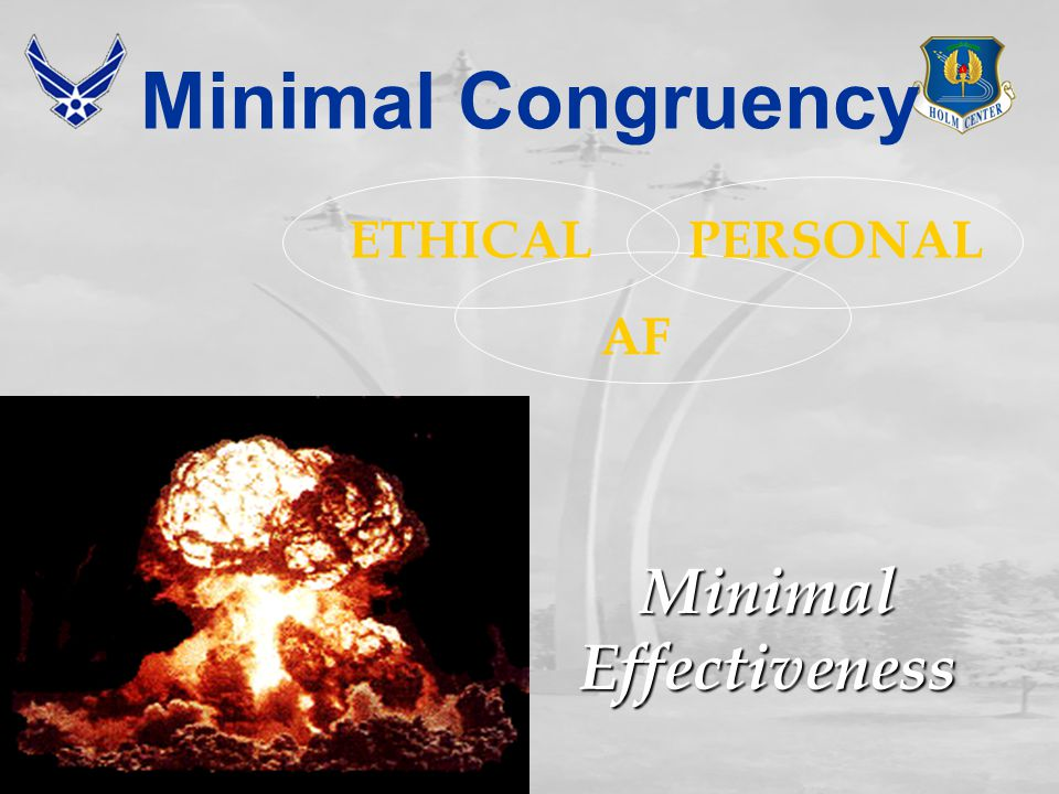 Congruent Core, Personal, and Ethical Values Result in Good Decisions Congruent Core, Personal, and Ethical Values Result in Good Decisions Commitment To AF Core Values Is Essential