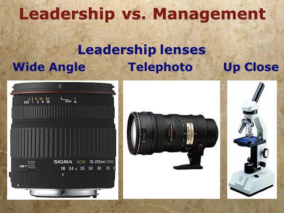 Leadership vs. Management Management Lens