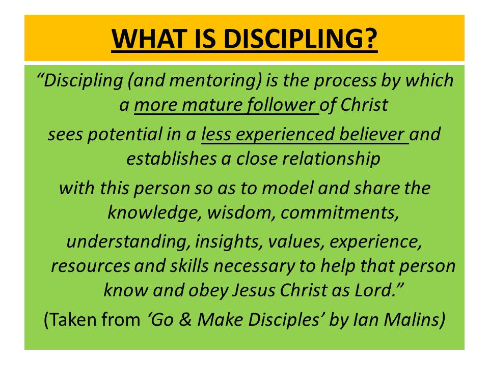 WHAT IS DISCIPLING.