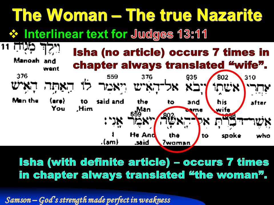 The Woman – The true Nazarite