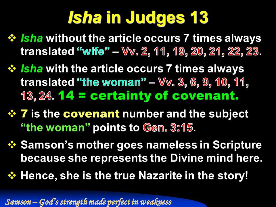 Isha in Judges 13