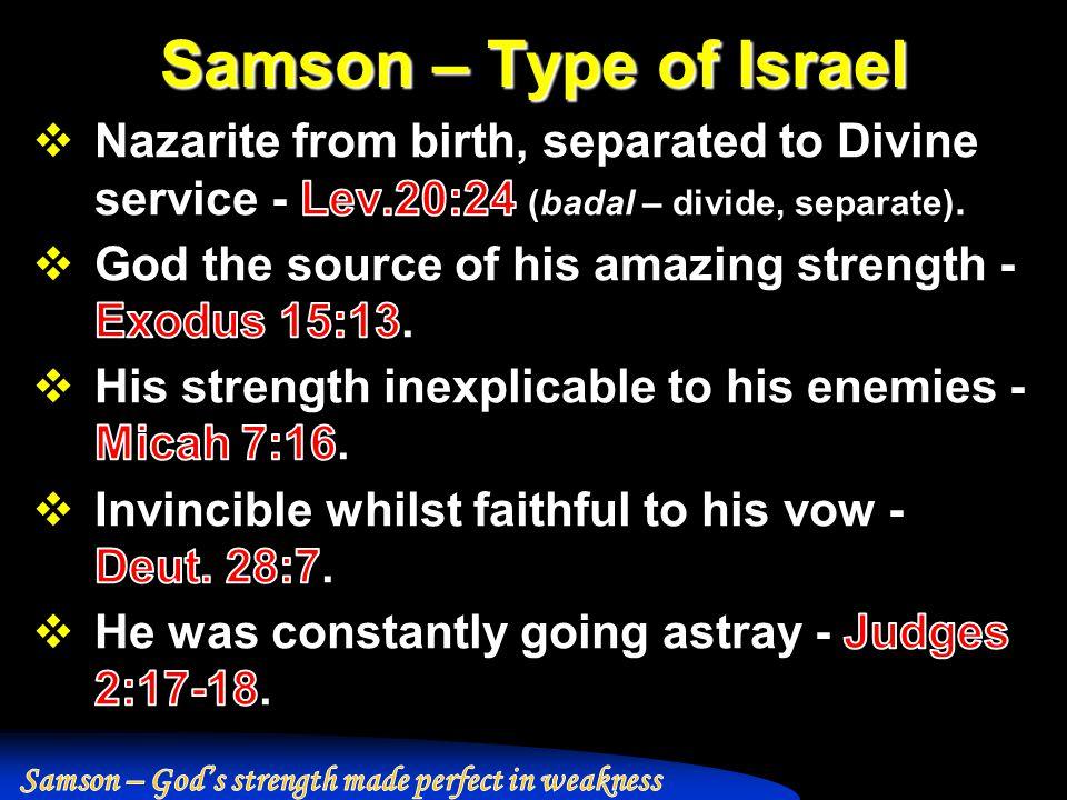 Samson – Type of Israel