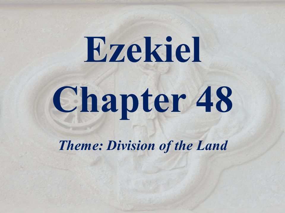Outline of Ezekiel 1-3 The Call of the Prophet 4-24 God's Judgment on Jerusalem - Given before the siege of Jerusalem 25-32 God's Judgment on the Muslim Nations - Given during the siege 33-48 The Restoration of the Jews - Given after the siege 33-36 They return to their land 37 The Valley of Dry bones 38-39 The protection from Gog and Magog 40-48 The Millennial Kingdom