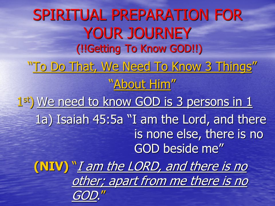 JOURNEY THROUGH SPIRITUAL BOOT CAMP (!!Getting To Know GOD!!) 3c) (God is Gracious) cont.