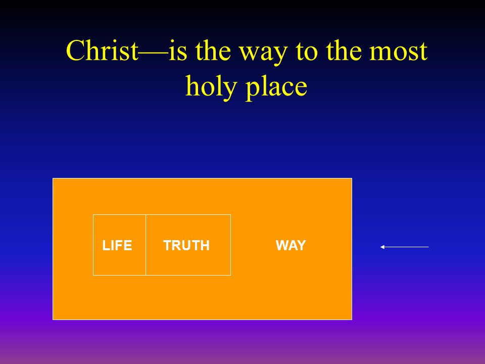 Christ—is the way to the most holy place LIFETRUTHWAY