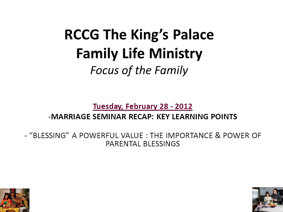 Family Value - Blessing 1.What is a blessing.