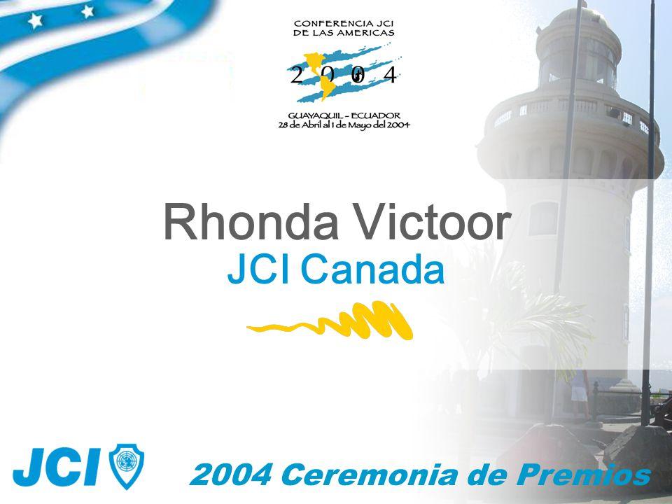 2004 Ceremonia de Premios Rhonda Victoor JCI Canada