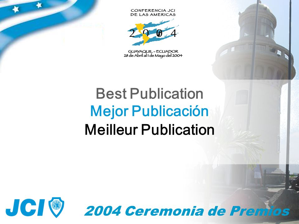 2004 Ceremonia de Premios Mejor Publicación Best Publication Meilleur Publication