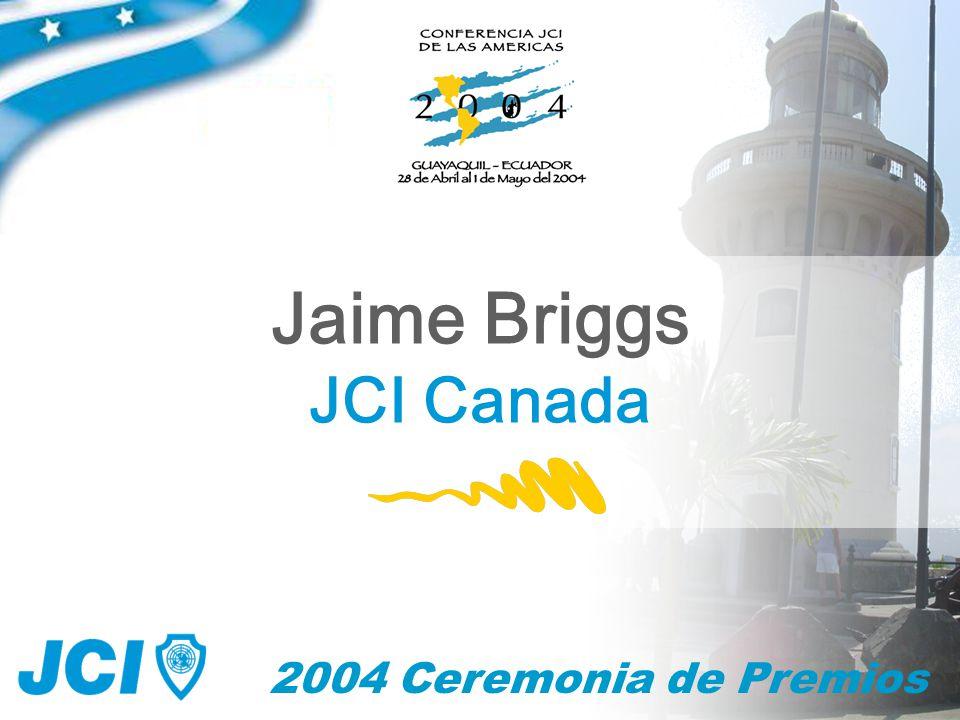 2004 Ceremonia de Premios Jaime Briggs JCI Canada