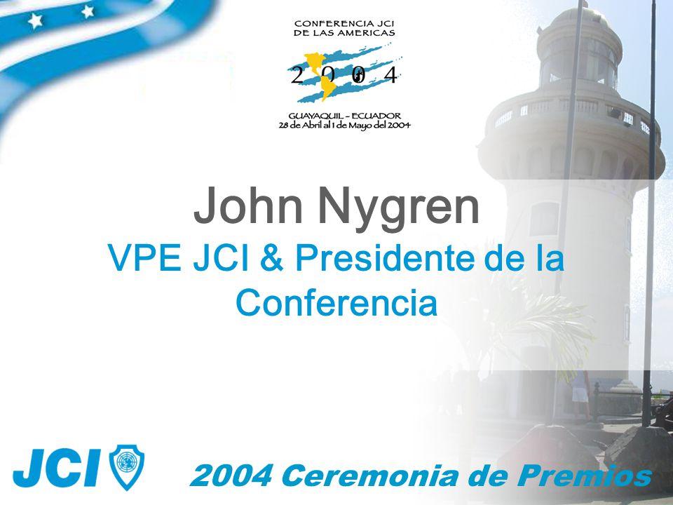 2004 Ceremonia de Premios Fernando Sanchez - Arias Presidente JCI